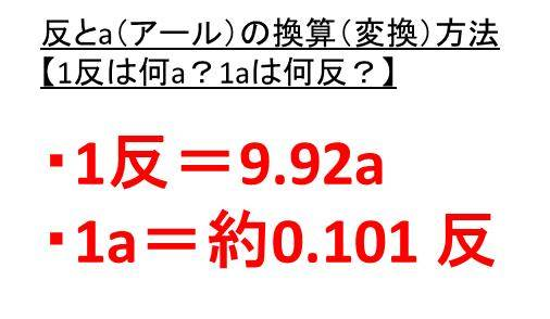 1反は何ヘクタール?何アール(何a)?【1アールは何反か?1ヘクタール ...