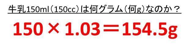 グラム cc 換算