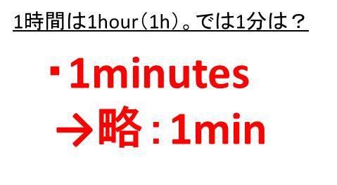 1時間は1h(hour)と書くが1分や1秒は何という記号で表す?時間表記の ...